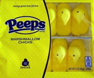 Peeps Original Non-vegan Marshmallow Chicks