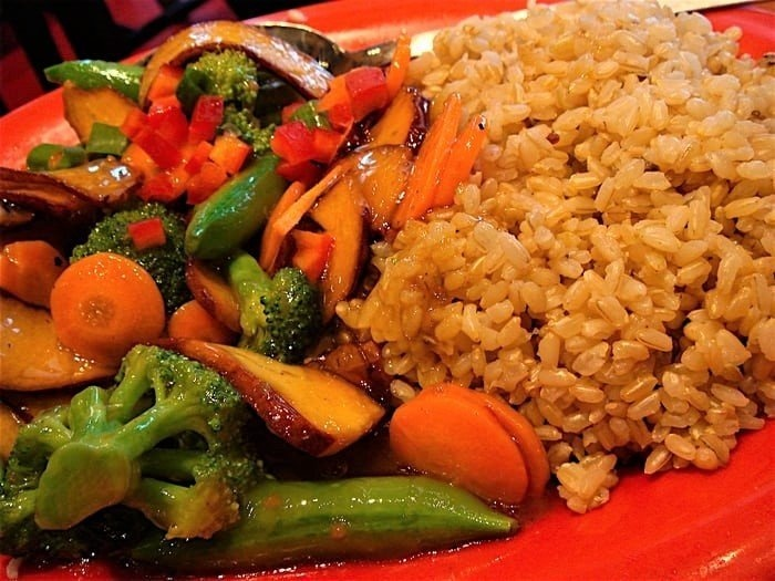 Honey Seared Vegetable with Brown Rice