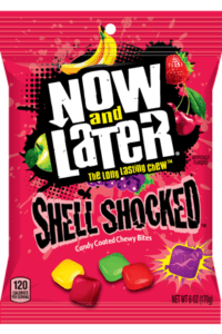 Non-Vegan Now and later shell shocked