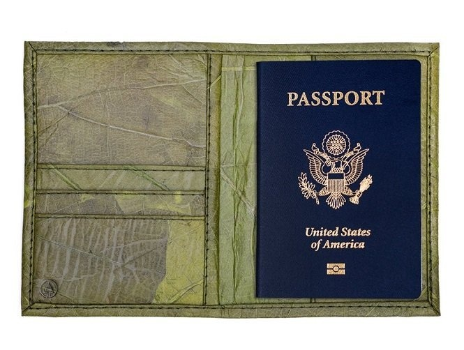 Tree Tribe's Leaf Leather Passport Wallet