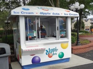 Dippin Dots Stand with Vegan Options
