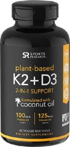 Vegan Vitamin D3 + K2 Sports Research
