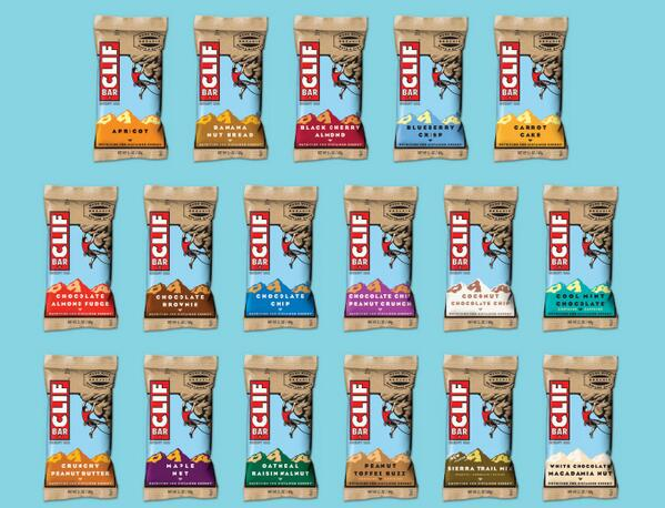 Clif Bar Vegan and Non-vegan Flavors