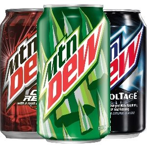 Mountain Dew Variety of Vegan Flavors