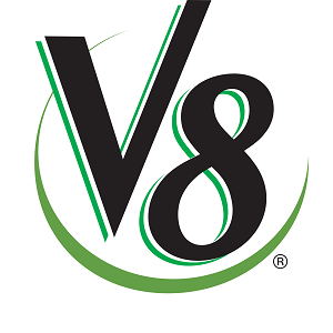 Is V8 Vegan Splash Energy Vegetable Logo