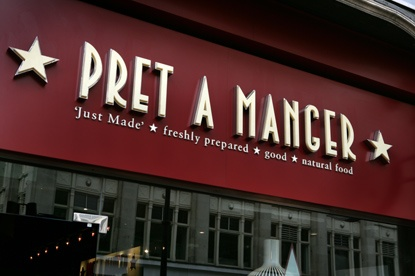 Pret A Manger Vegan Options Logo